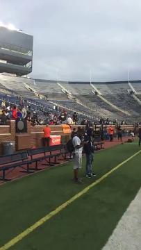 Bill Khan sets the scene at Michigan Stadium for the 2017 high school football season opener between Brighton and Belleville. (Bill Khan/Livingston Daily