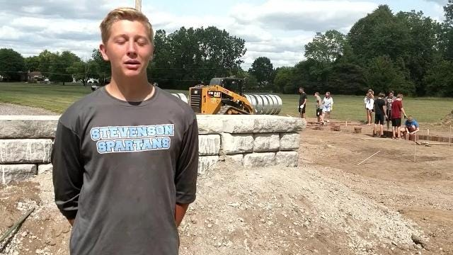 Hans Anderson, a junior at Stevenson High School, planned an eco-classroom at Hoover Elementary for his Eagle Scout project.