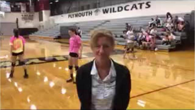 Sheila Weber talks about her new team, the Plymouth Wildcats, as she begins her first season as varsity volleyball coach.