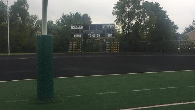 Farmington Harrison's football team executes some practice drills following their season-opening game.
