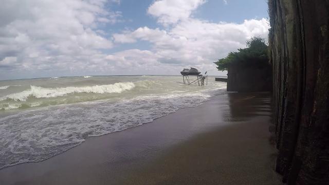 Strong winds blow over Lake Huron near Lexington Aug. 31.