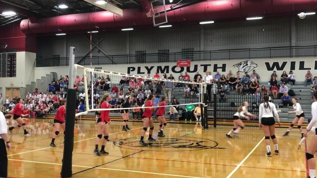 Plymouth and Canton have new volleyball coaches for the 2017 season. Their teams squared off against each other on Aug. 31.