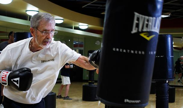Former Lansing Mayor David Hollister talks about how boxing has helped in his fight with Parkinson's disease.