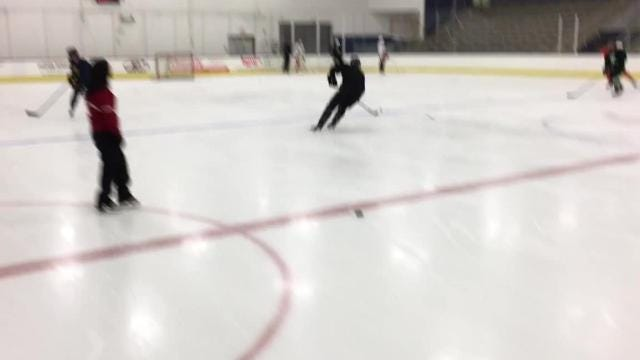 Kim Muir teaches power skating to hockey players, from kids, to college and NHL players, too.