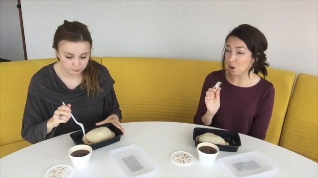 Times Herald reporters Jackie Smith and Nicole Hayden taste-test pasties from Jimmy's Frozen Custard. Their review: delicious.