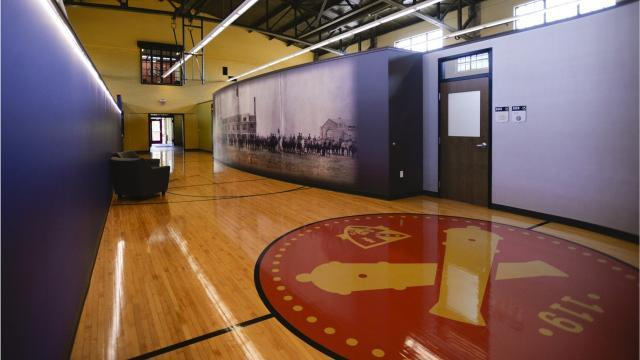 Inside the Marshall Street Armory
