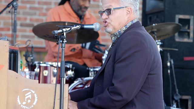 Mark Braun, blues and boogie woogie pianist better known as Mr. B., was the opening act at Brighton's Smokin' Jazz and BBQ Blues Festival Friday, Sept. 8, 2017.
