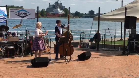 """Alfie Jean And Fella Jack sing """"Bye Bye Love"""" by The Everly Brothers at the Bridge Water Music Festival on Sept. 10, 2017. The event is at Pine Grove Park and will continue on Sept. 17 and 24."""