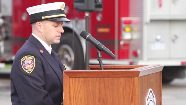 Brighton Area Fire Authority hosted its annual tribute to victims and first responders of the 9-11 attacks, held Monday, Sept. 11, 2017.