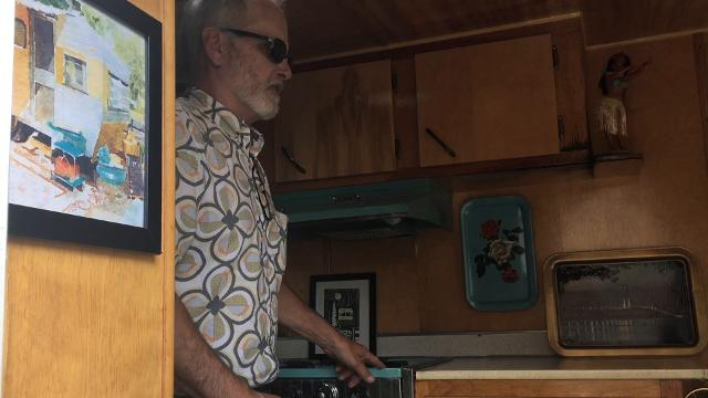 Take a look inside this 1965 Frolic vintage camper