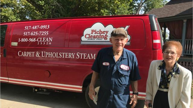 Bob and Patricia Pichey of Perry Twp. said they lost more than 80% of their carpet cleaning business when their telephone company dropped them and wouldn't allow their number to be used by another provider.