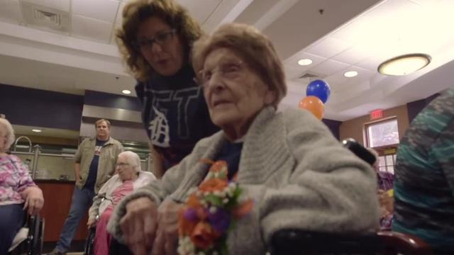 Regina Varrero is a big Tiger baseball fan. In spite of this year's abysmal Tigers record, Regina turns 108 years old