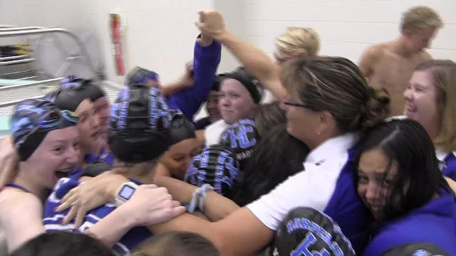 Harper Creek edges Lakeview for its first-ever All-City girls swimming and diving championship.