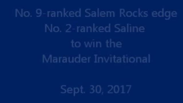 Salem's boys cross country team takes the top spot at the Maurauder Invitational on Sept. 30