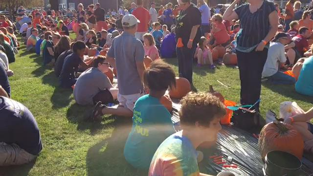More than 1,000 pumpkins were carved during the Pumpkin Palooza Party on Saturday, Oct. 7, 2017, at Nautical Mile Park in Marine City. It was the community's second attempt at breaking the Guinness world record for simultaneous pumpkin carving.