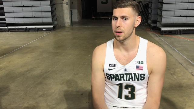 Michigan State men's basketball player Ben Carter on his sixth season of eligibility. Cody Tucker/Lansing State Journal