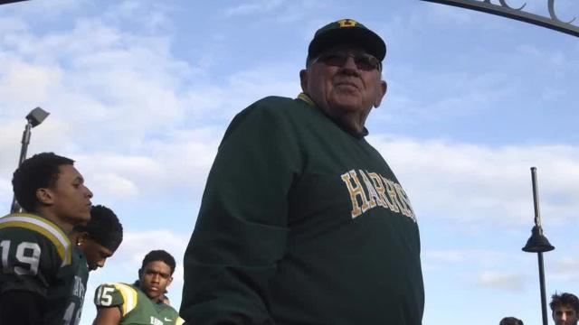 With Farmington Harrison's 39-0 victory over Berkley, coach John Herrington reached the magical number of 431 wins to become the all-time coaching career wins record holder in the state of Michigan.