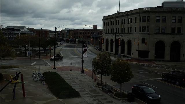 A storm blows through downtown Port Huron Oct. 24.