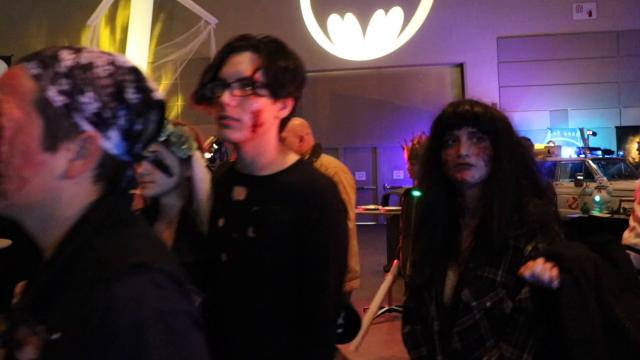 The 8th Annual Downtown Lansing Zombie Walk raises money for the Greater Lansing Food Bank.  Founder Steve Ward estimates they've raised about $5,000 and over 9,000 pounds of food since its inception.