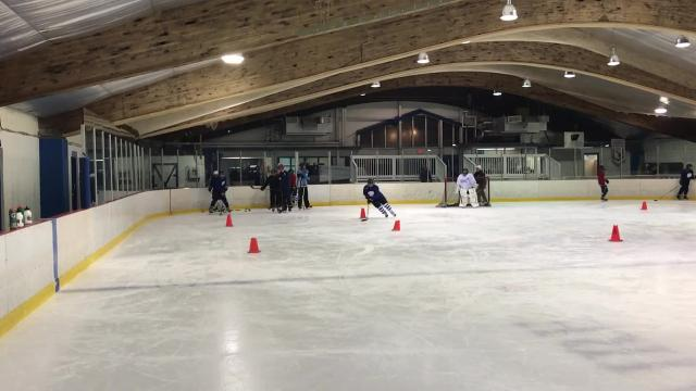 After a long battle to get the team up and running, Livonia United practiced for the first time Monday night at Devonaire Ice Arena. The team is coached by Janine Martinez and features players from Churchill, Franklin and Stevenson high schools.