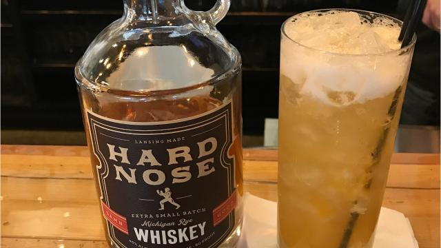 Lansing Brewing Company bartender Daniel Tucker shows how to make a Cinnamon Rye Smash.