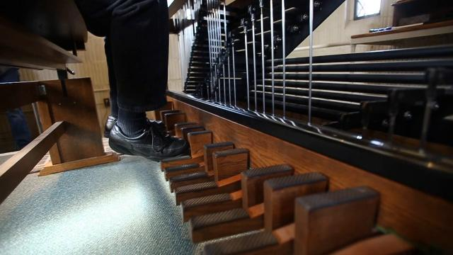 Atop the John W. Beaumont Memorial Tower on the campus of Michigan State University in East Lansing is a vintage carillon, which is played by students, and University Carillonneur Ray McLellan.  Take a peek inside.