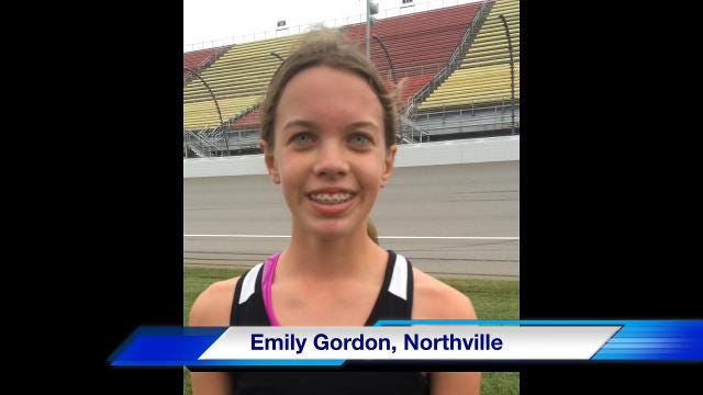 Interviews with members of the Northville girls cross country team, which finished second at the Division 1 state meet on Saturday at Michigan International Speedway.