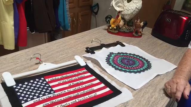 Kimball woman gives back one stitch at a time