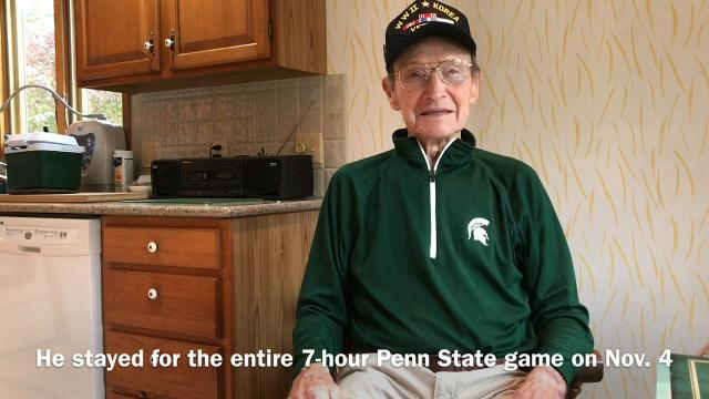 Howard Grider, 92, has had season tickets to Michigan State football games for 53 years. He rarely misses a game. And when he does, he has a good excuse. Grider is battling a cancer diagnosis. It's his seventh bout. He beat the first six.
