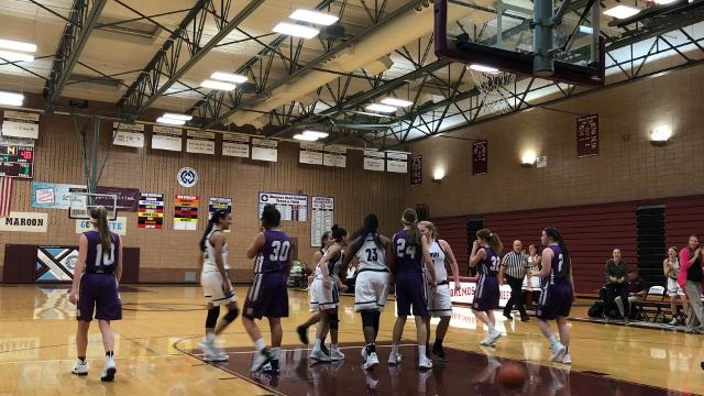 Hear comments from Okemos junior Laya Hartman and coach Kristen Rasmussen and see highlights from the Chiefs' 60-56 win over Fowlerville on Nov. 28, 2017. Brian Calloway | LSJ