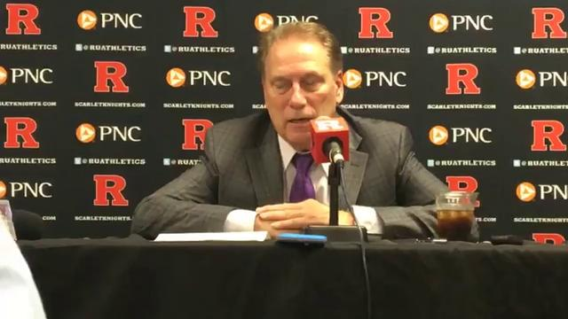 Michigan State men's basketball coach Tom Izzo's postgame press conference after the Rutgers game on Tuesday, Dec. 5, 2017, in Piscataway, New Jersey. Chris Solari/DFP