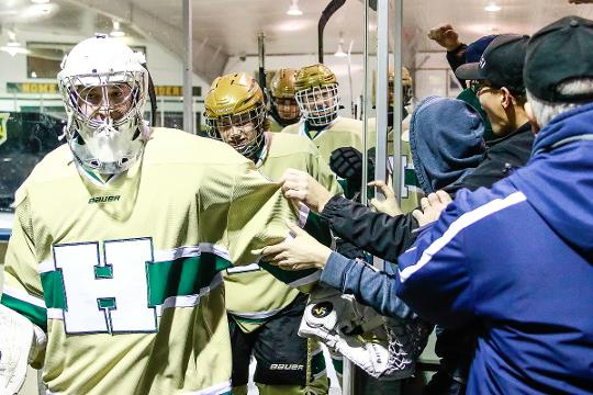 Highlights from Howell's 7-1 victory over previously unbeaten Ann Arbor Skyline. Billy Eskola scored two shorthanded goals, as the Highlanders (3-1) won their third straight game.