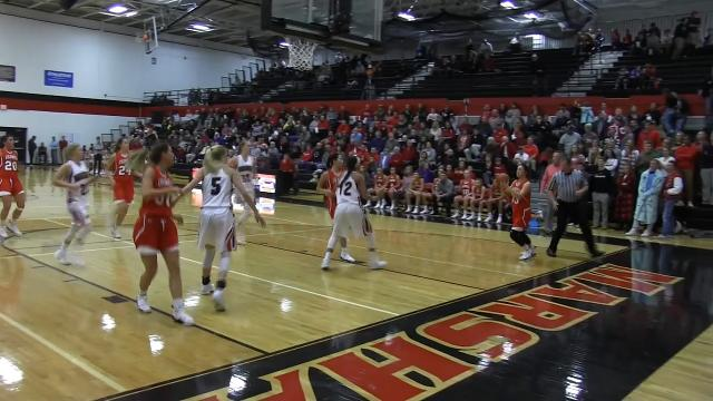 Coldwater at Marshall in girls basketball in Interstate 8 Conference action