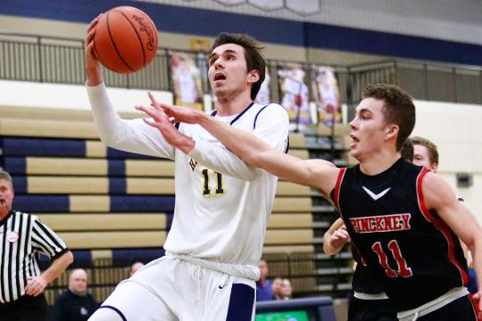 Highlights and interviews from Hartland's 54-49 overtime victory over Pinckney in boys' basketball.