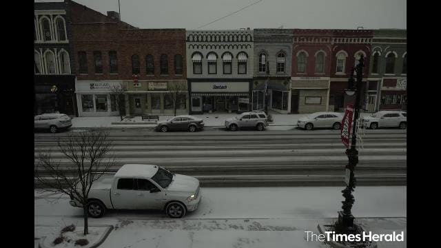A time lapse video of Wednesday afternoon's snowfall.
