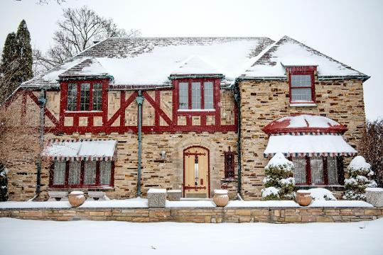 View this Tudor-style estate on the Grand River