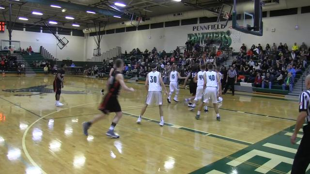 Battle Creek Enquirer  highlights of Marshall win over Pennfield in boys basketball