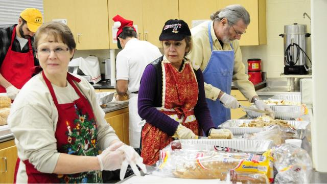 There are a couple places to get some free food and community company on 