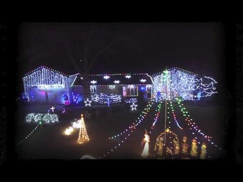Mike and Ali Fitzgerald provide a birds-eye view of their winning Christmas lights display.