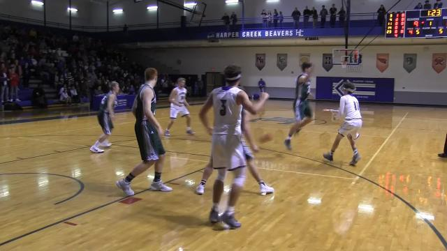 Highlights from Pennfield vs.  Harper Creek Boys Basketball