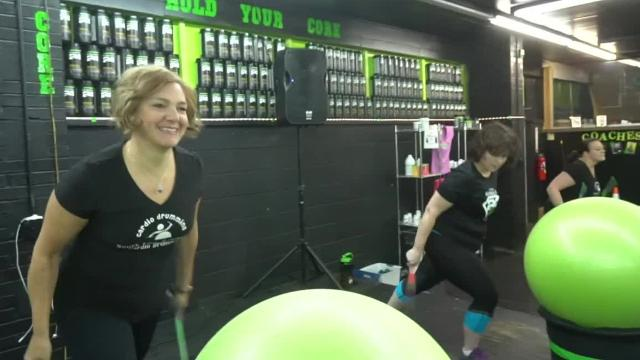 New Hudson group attracts more than 50 people for a good workout.