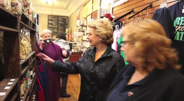 U.S. Sen. Debbie Stabenow visited Uptown Coffee, Heart of Michigan, Cleary's Pub and Benjamin Franklin Plumbing in a small business tour of the county.