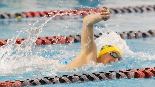 Watch Howell, Brighton swimmers in photo finish in 200 individual medley