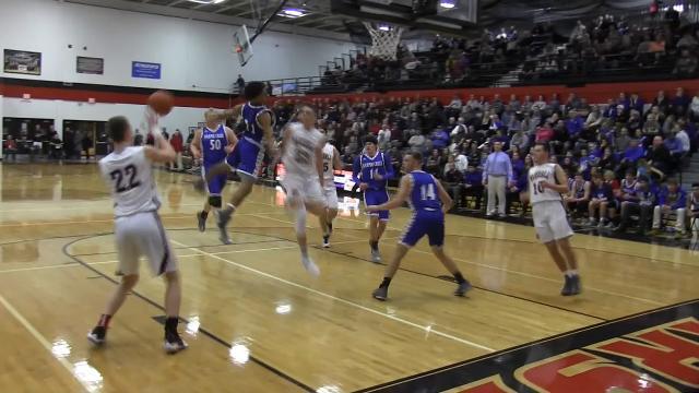 Highlights: Harper Creek at Marshall boys basketball