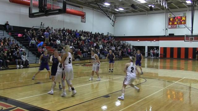 Battle Creek Enquirer highlights of Harper Creek at Marshal in girls basketball rivalry game