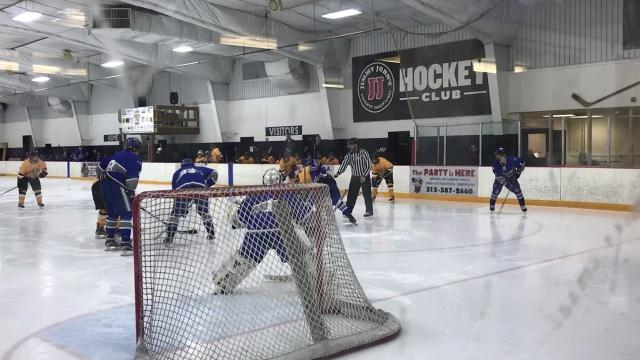 Redford Arena hosts college hockey game between Schoolcraft and Lawrence Tech.