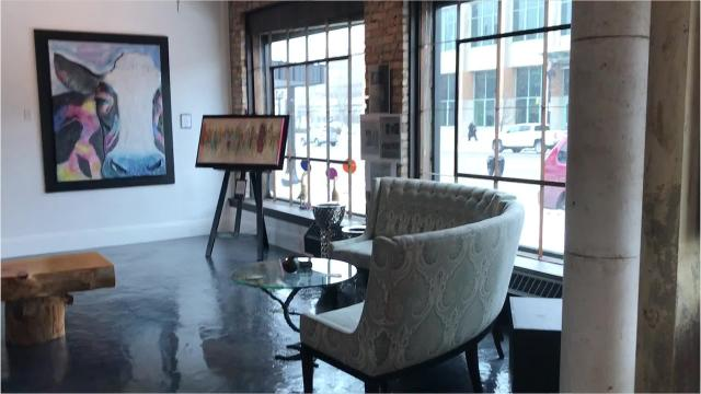 La Fille Gallery on Michigan Avenue serves as an art studio, event space and a music venue.