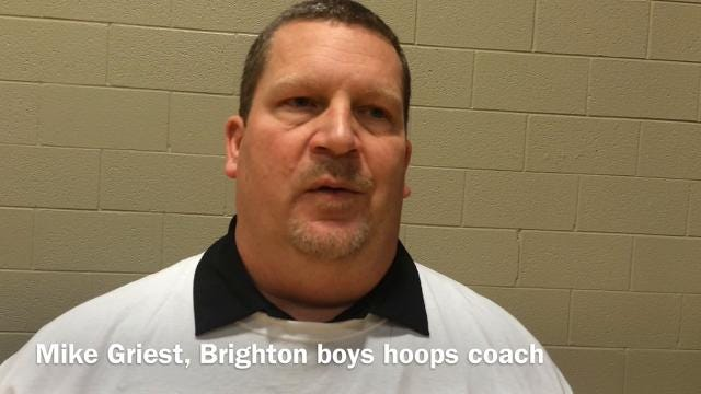 Interview with Brighton coach Mike Griest following team's 57-50 win over Howell