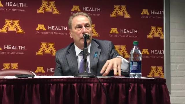 Tom Izzo meets with media after after Minnesota win