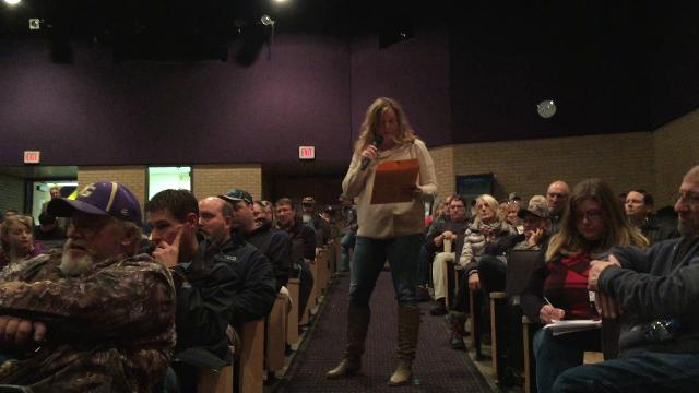 Howell Township resident Kelly Borowy is concerned about an electrical power plant proposed near Fowlerville. She spoke about it during public comments at a Feb. 14, 2018 meeting of the Handy Township Planning Commission.